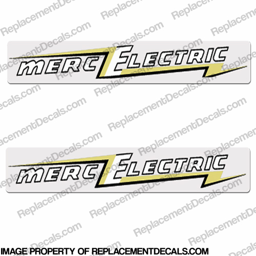 Mercury 1955 25HP Electric Outboard Engine Decals