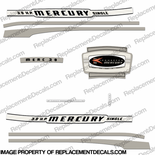 Mercury 1964 3.9HP Outboard Engine Decals