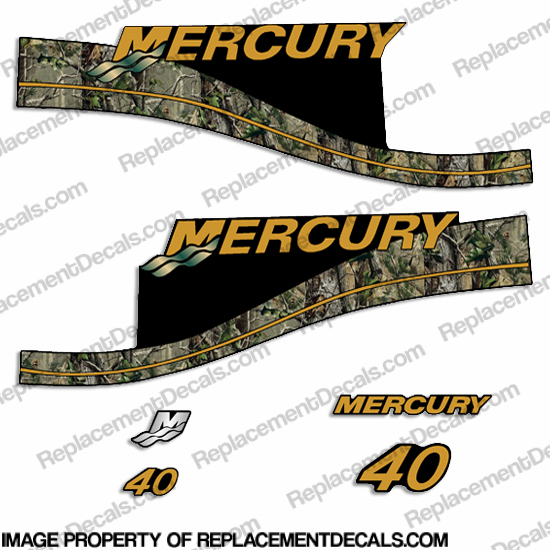 Mercury Custom 40 ELPTO Decal Kit - Real Camo Style