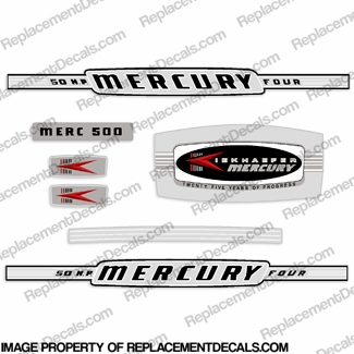 Mercury 1964 50HP Outboard Engine Decals