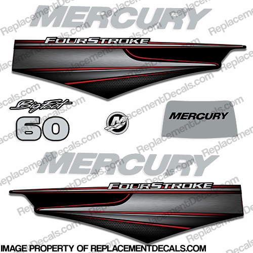 Mercury 60hp BigFoot FourStroke Decals