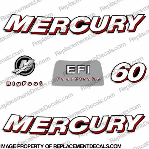 Mercury 60hp 4-Stroke EFI Decal Kit - 2006