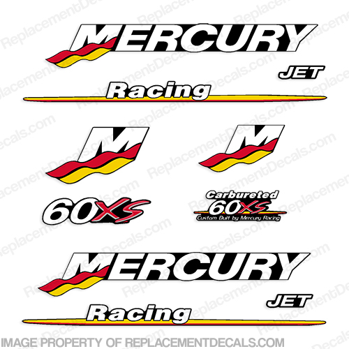 Mercury Custom 60hp Racing 60xs Decals
