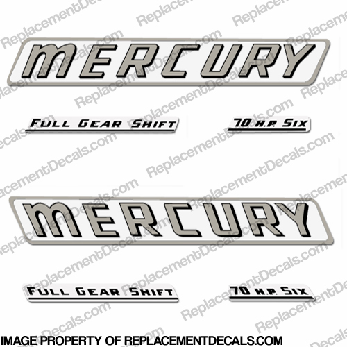 Mercury 1961 70HP Outboard Engine Decals