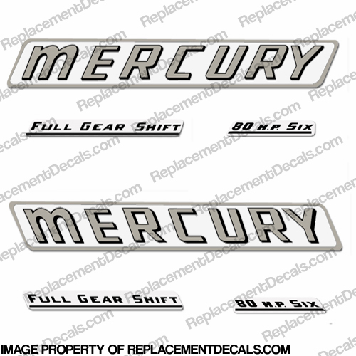 Mercury 1961 80HP Outboard Engine Decals