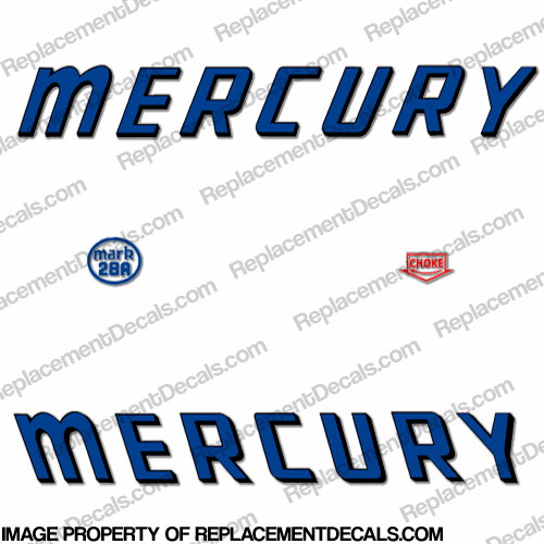 Mercury 1959 Mark 15A MK6A Reproduction Decals Blue Outboard Decal Kit
