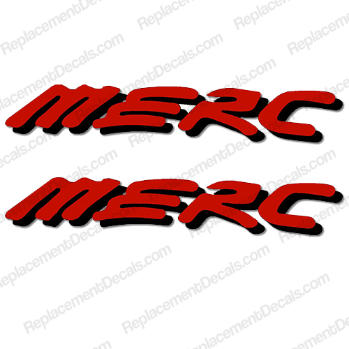 MERC Decal (Set of 2) - Red/Black