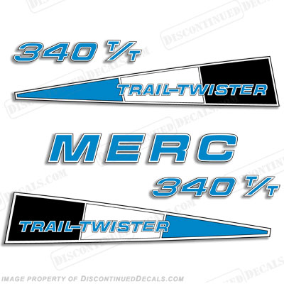 Mercury 340 Trail Twister Decal Kit - Blue