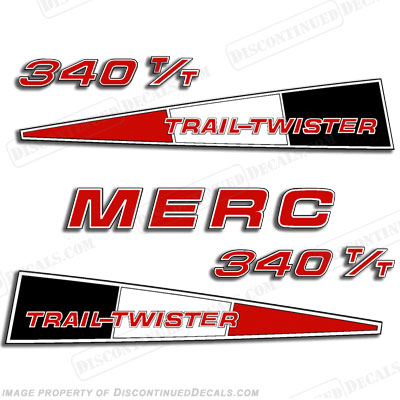 Mercury 340 Trail Twister Decal Kit - Red