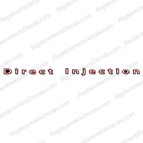 "Mercury ""Direct Injection"" Decal"