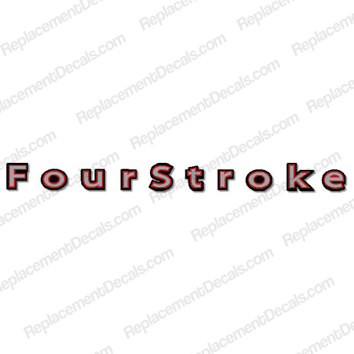 "Mercury ""Fourstroke"" Decal - Silver/Red/White"