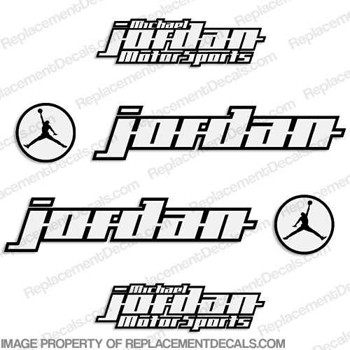 Michael Jordan Motorsports Race Bike Logo Decals