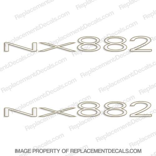 Nitro NX882 Boat Logo Decals (Set of 2)