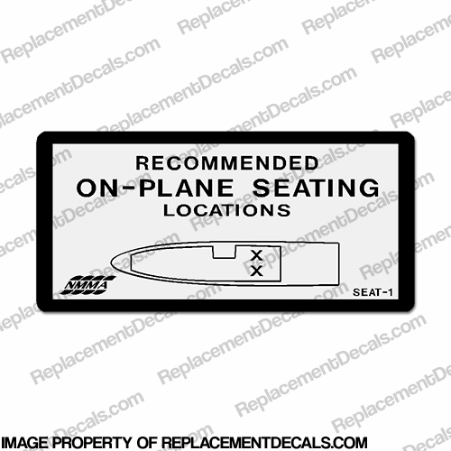 Recommended On Plane Seating Locations Decal