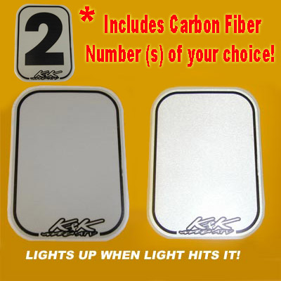 ATV Custom Number Plate *Reflective!