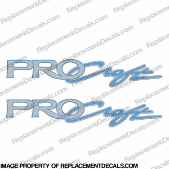 "Tracker Marine Pro Craft Boat Decals 32"" - Blue (Set of 2)"
