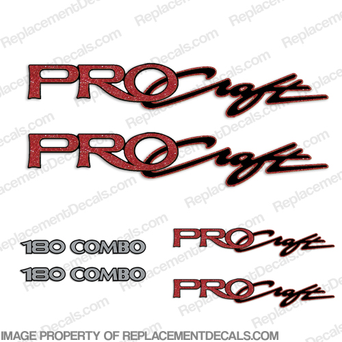 Pro Craft Boats Logo Decal Package procraft, pro-craft