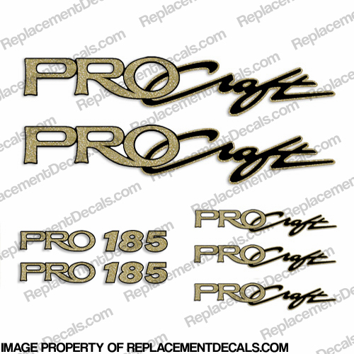 ProCraft Boats & Pro 185 Logo Decal Package procraft, pro-craft