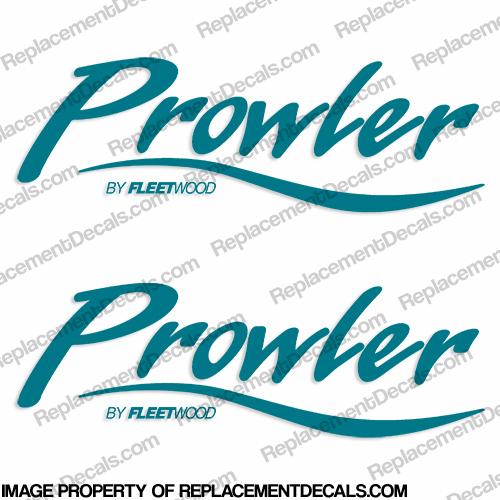 Prowler by Fleetwood RV Decals (Set of 2) - 1 Color!