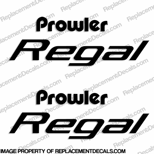 Prowler Regal RV Decals (Set of 2) - Any Color!