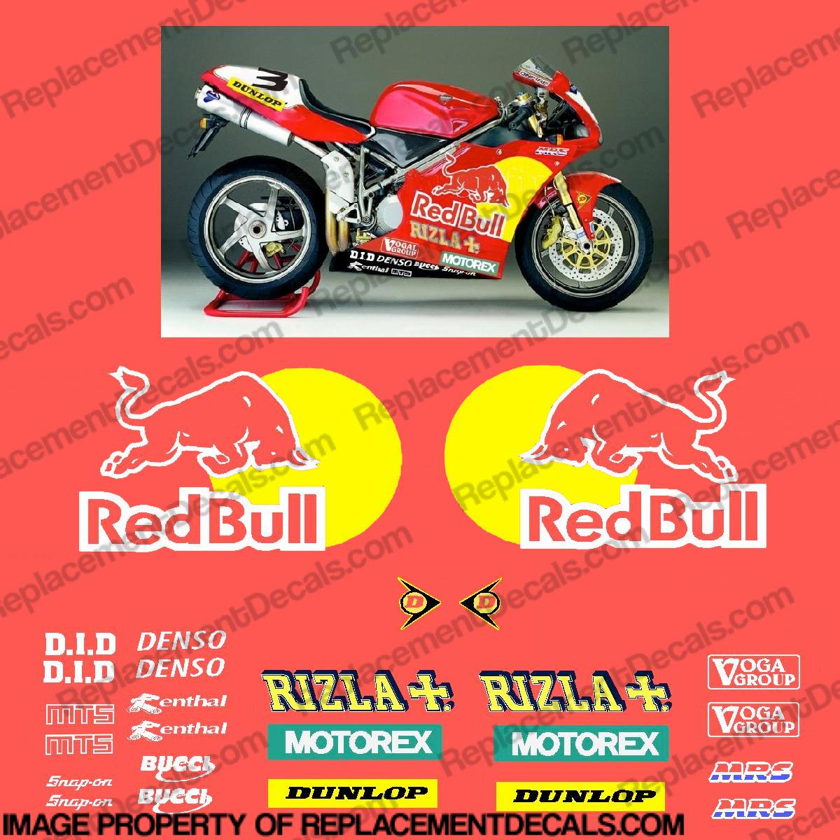 Ducati bsb redbull rizla replica decals r d rb rz