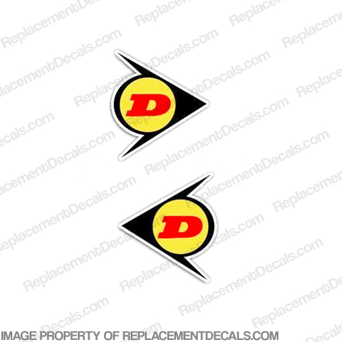 Dunlop Decals (Yellow) - Set of 2