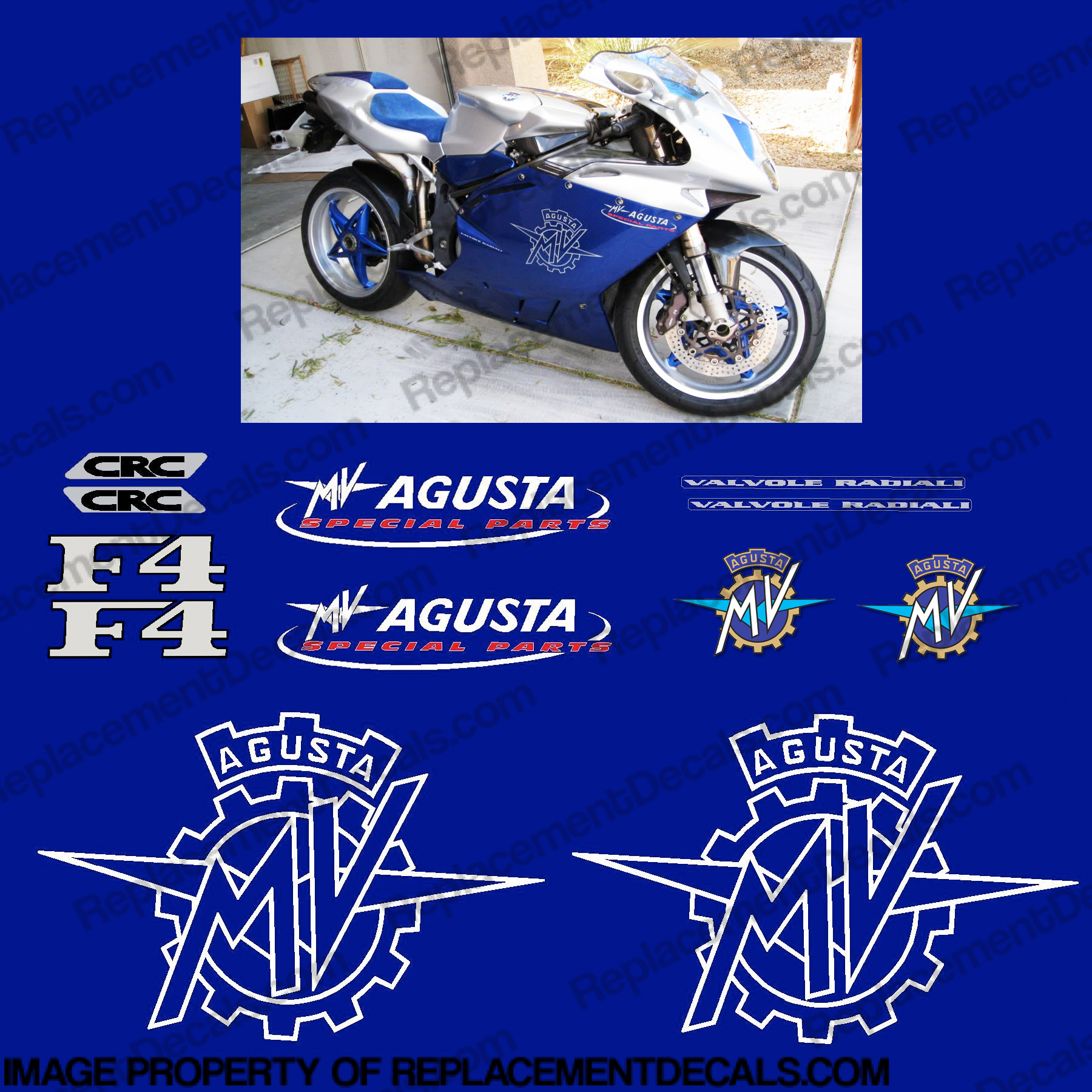 MV Agusta F4 Viper Edition Decal Kit