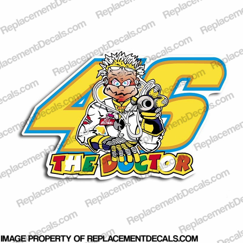 "Valentino Rossi ""Doctor 46"" Decal"
