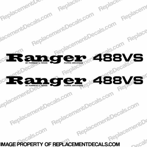 Ranger 488VS Decals (Set of 2) - Any Color!