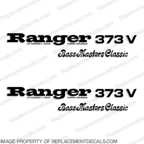 Ranger 373V Bass Master Classics Decals (Set of 2) - Any Color!