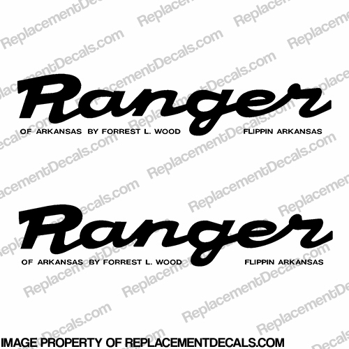 Ranger Script Style Decals (Set of 2) - Any Color!