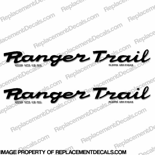 Ranger Trail Script Style Trailer Decals (Set of 2) - Any Color!