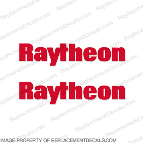 Raytheon Logo Radar Decals (Set of 2) - Any Color!