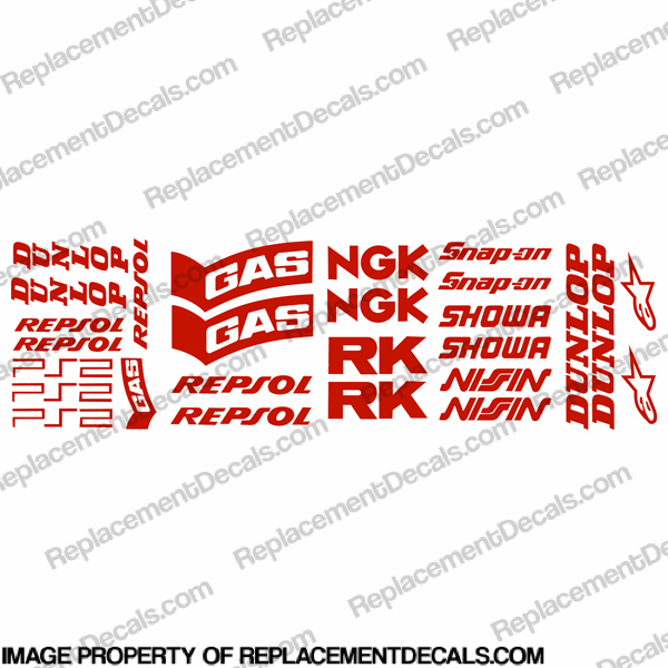 Pocket Bike Repsol Decal Kit