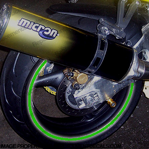Reflective! Rim Stripe Kit - Green