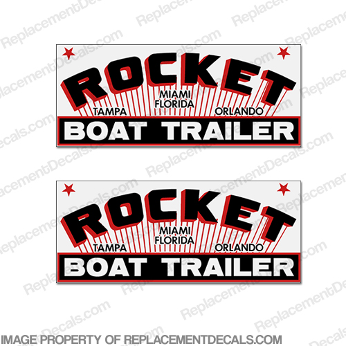 Rocket Boat Trailer Decals (Set of 2)