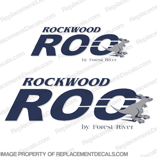 Rockwood Roo by Forest River RV Decals (Set of 2)