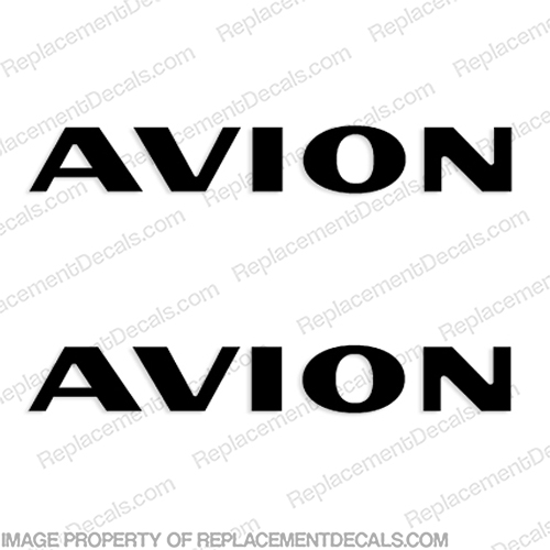 Avion by Fleetwood RV Logo Decals - style 1 - (Set of 2) Any Color! recreational, vehicle, rv, camper, trailer, caravan, fw, fleet, wood, avion