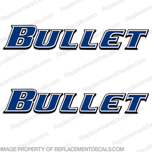 Bullet by Keystone RV Decals (Set of 2) cross, fire, cross fire, key, stone, key stone, rv, decals, bullet, motorhome, camper, trailer, stickers