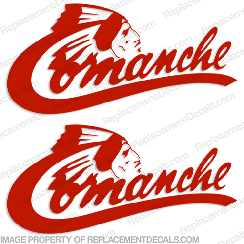 Comanche RV Logo Decals - (Set of 2) Any Color! commanche, comanche, rv, conversion, van, sticker, label, logo, decal, kit, set, marking