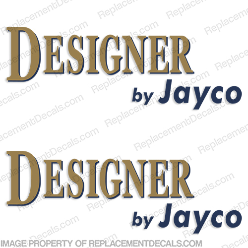 Designer by Jayco RV Decals (Version 1) - (Set of 2)