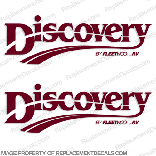 Fleetwood Discovery Logo RV Decals (Set of 2) - Any Color!