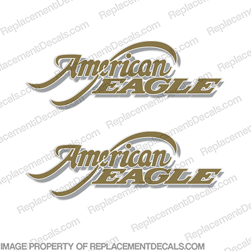 American Eagle RV Decal Kit (Set of 2)  rv, motorhome, coach, carriage, fifthwheel, fifth, wheel, caravan, recreational, vehicle, american, eagle, fleetwood, 1998,