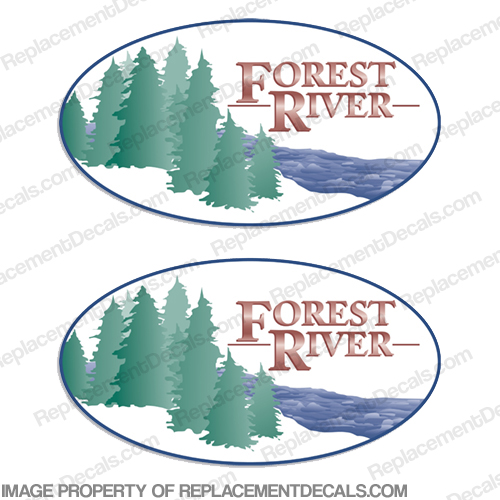 Forest River RV Graphic Decals (Set of 2)