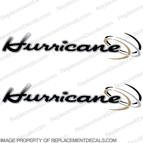 "Thor ""Hurricane"" RV Decals (Set of 2) - Black/Grey"
