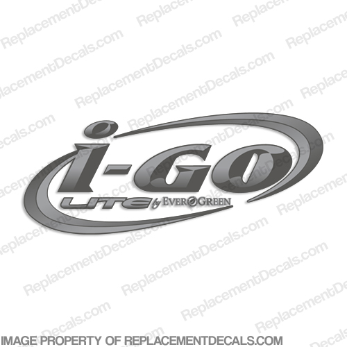 I-Go LITE by Evergreen RV Decal i go, igo, ever green, ever, green, recreational vehicle decals