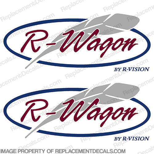 R-Wagon by R-Vision RV Decals (Set of 2)
