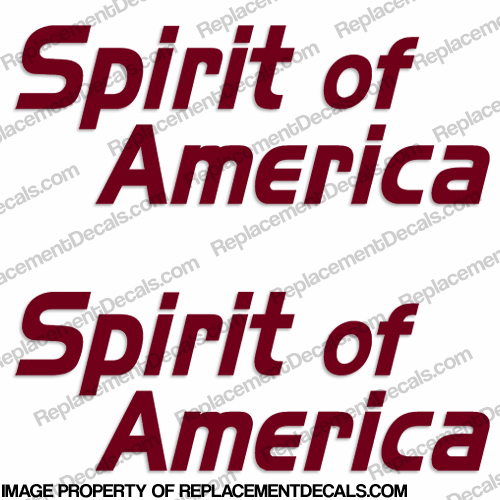 Coachmen Spirit of America RV Logo Decals (Set of 2) Any Color!