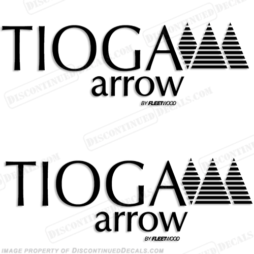Tioga Arrow by Fleetwood RV Decals (Set of 2) - Any Color!