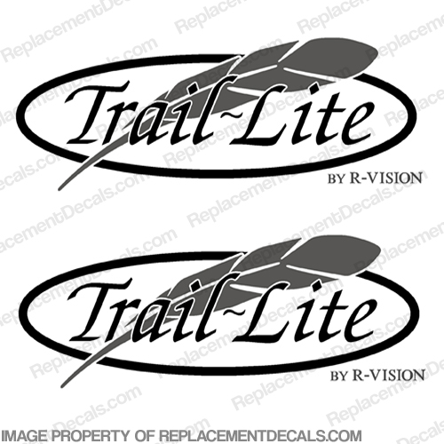 Trail Lite by R-Vision RV Decals (Set of 2) r vision